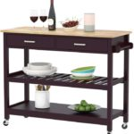Clevr Rolling Kitchen Cart Island