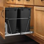 Double Sliding Pull Out Kitchen Cabinet Waste Bin Container