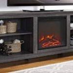 Farmhouse Wood Fireplace Stand