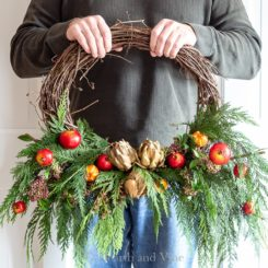 Faux witnter wreath
