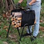 Fireplace Log Holder with Canvas Tote