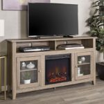 Fireplace Modern Media TV Stand