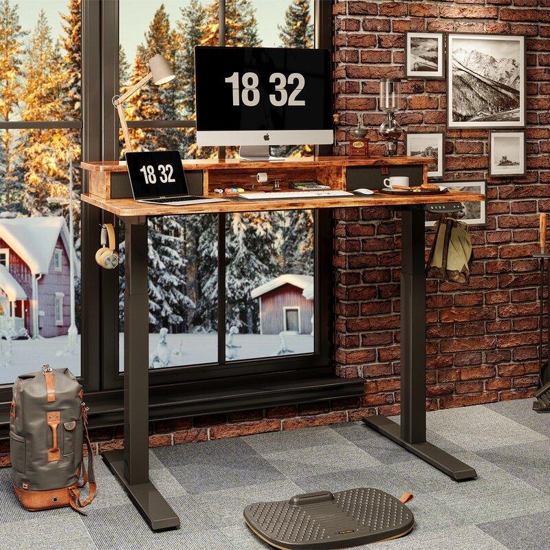 Inbox Zero Height Adjustable Standing Gaming Desk