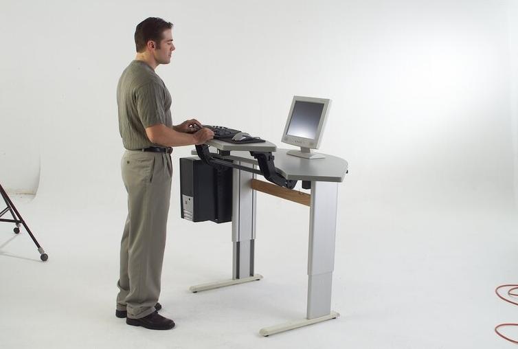 Infinity Height Adjustable Trapezoid Standing Desk Converter