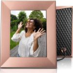Nixplay Iris 8 Inch WiFi Digital Photo Frame Peach Copper