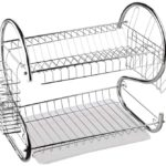 S-Shaped 2-Tier Dishrack