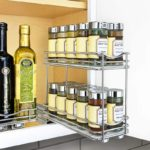 Slide Out Double Spice Rack Upper Cabinet Organizer-4-inch