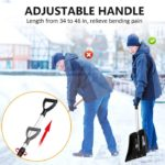 Snow Shovel with 46'' Adjustable Aluminum Handle