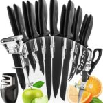 Stainless Steel Knife Set with Block