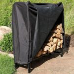 Sunnydaze 4-Foot Firewood Log Rack with Cover Combo