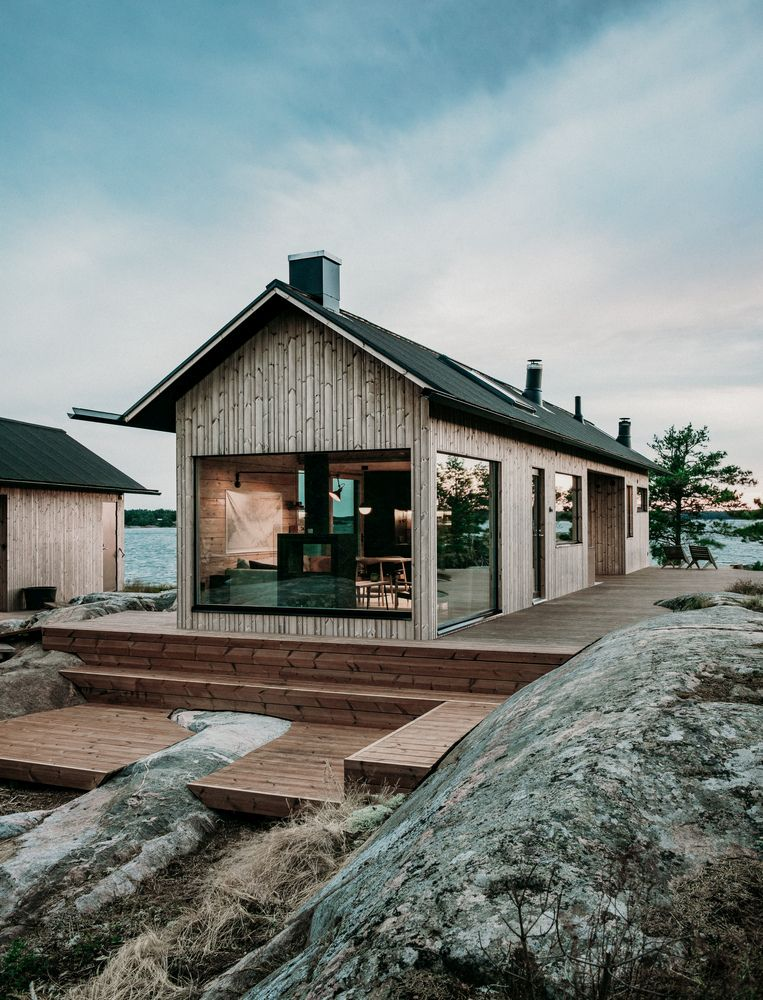 A Charming Summer Cabin Situated On Its Very Own Little Island