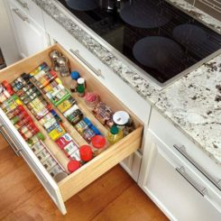 Wooden Spice Drawer Storage Organizer Insert,