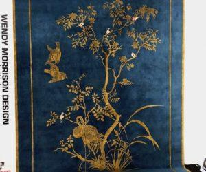 Blue base carpet