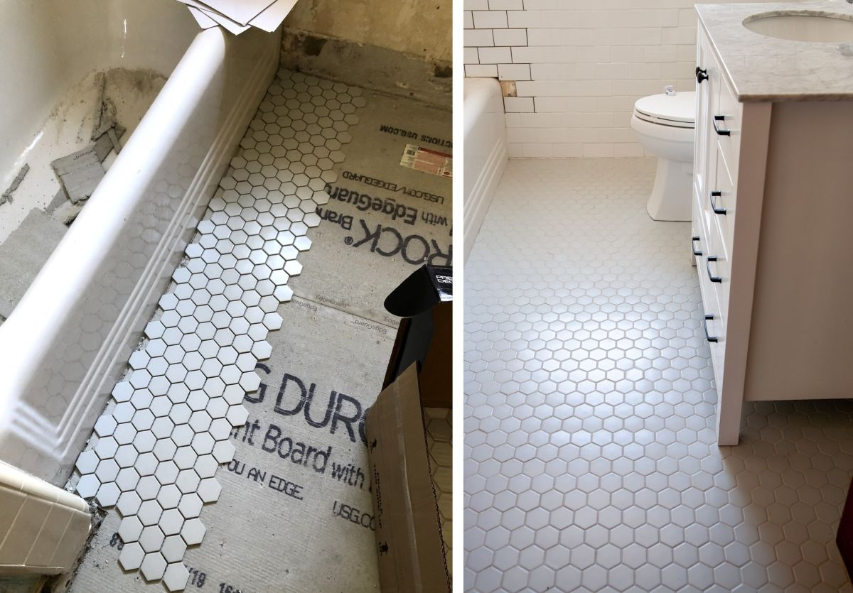 How To Update Your Bathroom Floor Tiles - 6 DIY ideas