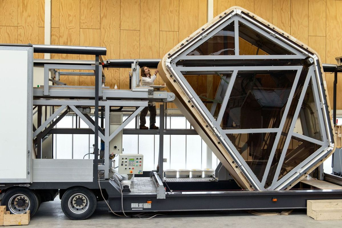 The modules can be transported and installed on site in only a day