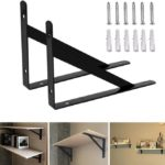 12 inch Black L Shelf Brackets