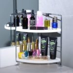 2-Tier Corner Storage Shelf