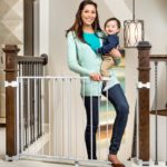 2-in-1 Stairway and Hallway Wall Mounted Baby Gate