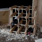 Ash Wood 12-Bottle Wine Rack