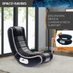 Black Foam Floor Video Gaming Chair