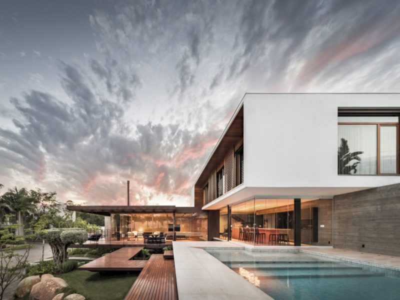 Modern Home in Brazil Respects the Land and Blends Indoors and Out