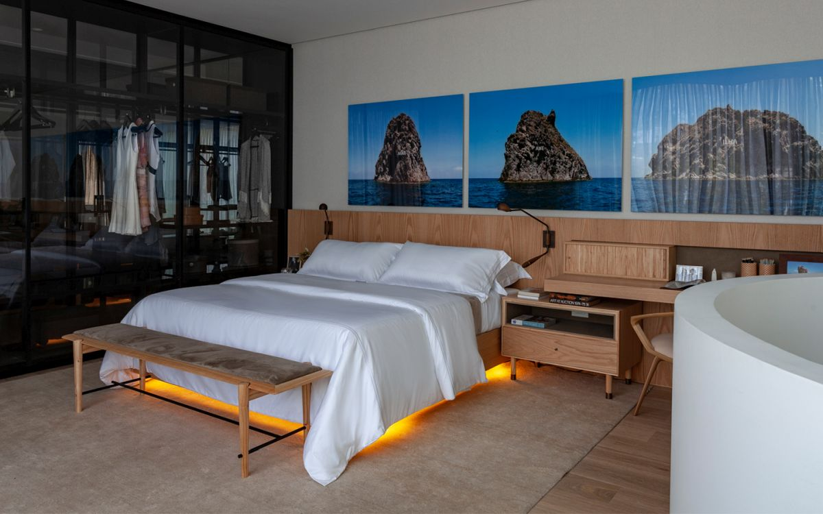 Subtle ambient lighting plays a very important role in the interior design, especially in the bedrooms