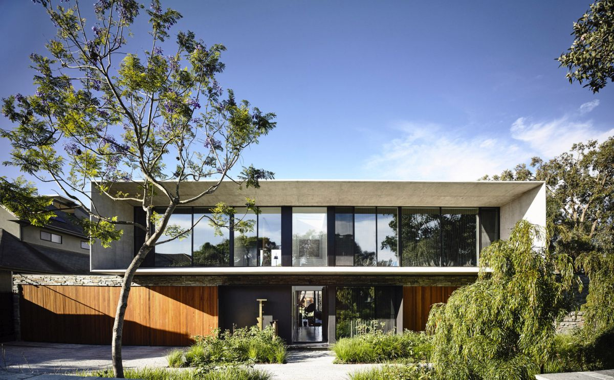 The house was completed in 2015 and was designed to maximize its footprint