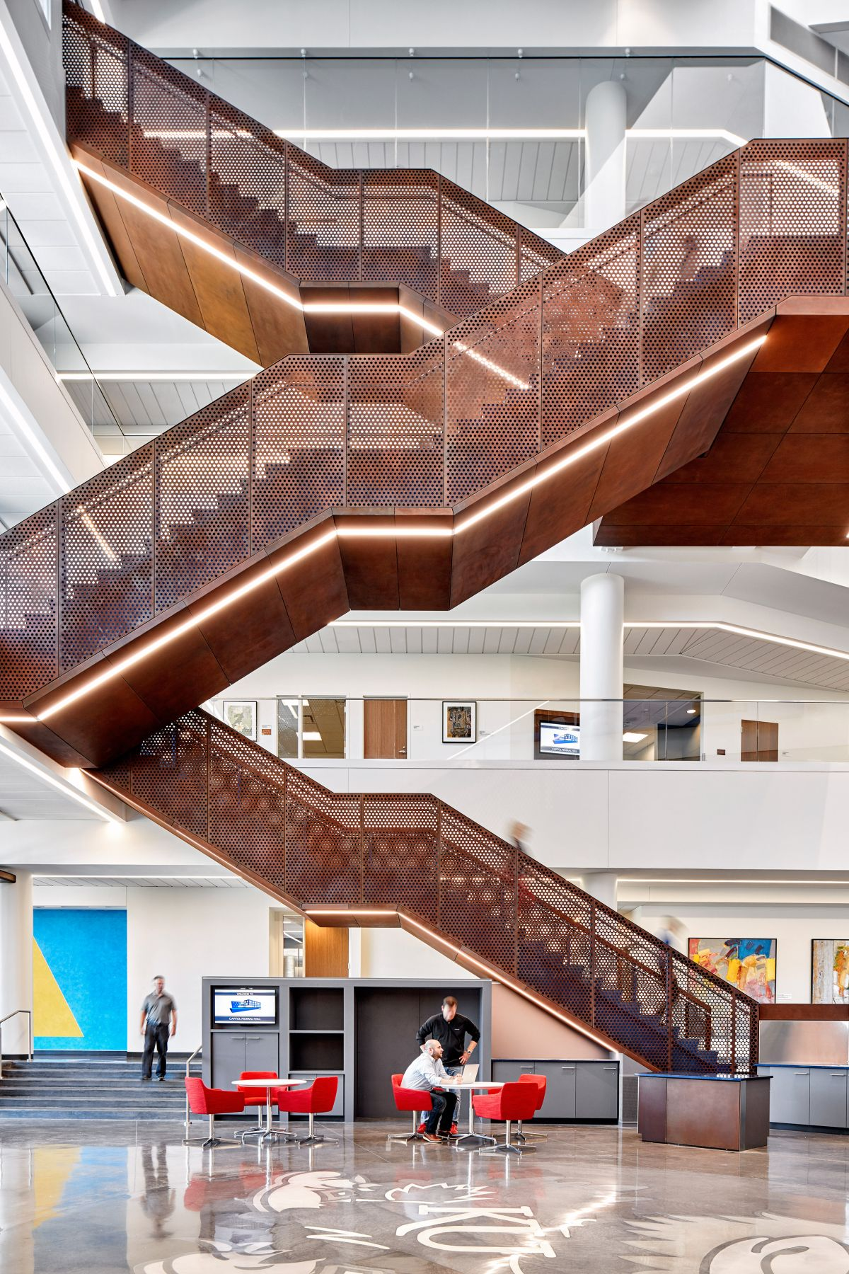 Perforated Staircase Designs With Enchanting Features