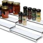 Expandable Cabinet Spice Rack Step Shelf Organizer