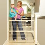 Extra-Wide Wire Mesh Baby Gate