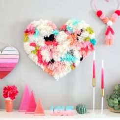 Faux wall hanging heart