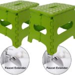 Folding Step Stools & Faucet Extenders for Kids 2-Pack
