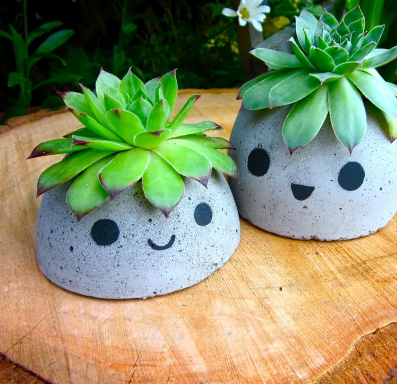 How To Make Cool-Looking Concrete Planters from Scratch