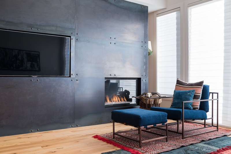Stunning Interiors With Steel Fireplace Surround Focal Points