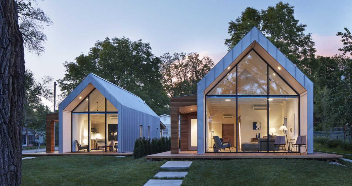 A Set Of Modern A Frame Houses With Super Sustainable Designs