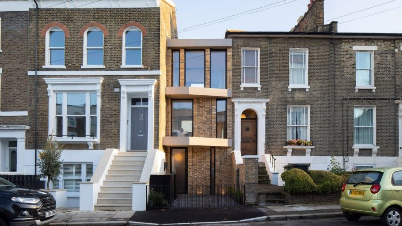 Skinny House In London Occupies An Old Carriage Parking Slot