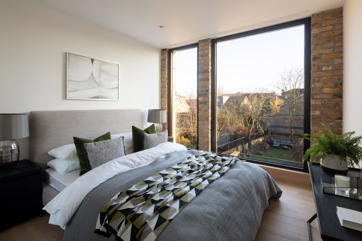 The bedrooms get to enjoy views of the garden as well as the street