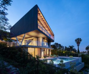 Angular House With a Hidden Floor And Scenic Views