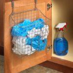 Over-The-Cabinet-Drawer Grid Trash Bin