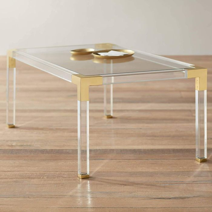Rectangular Clear Acrylic Coffee Table