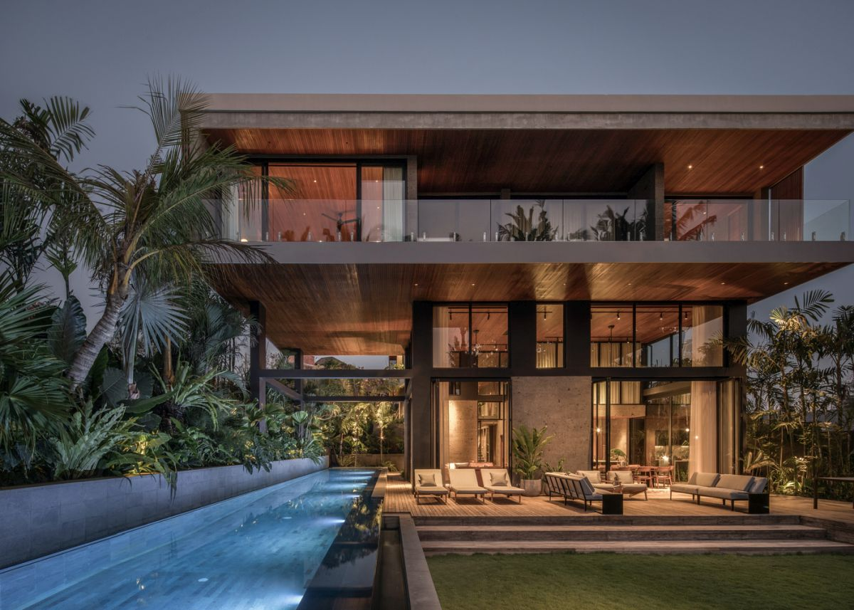 Modern House In Bali Incorporates The Lush Topography Into Its Design