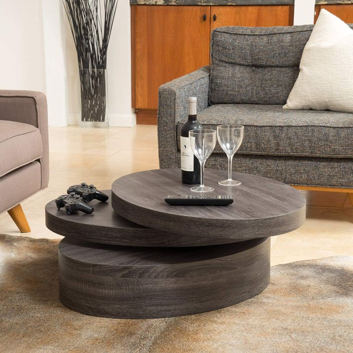 Rotating Wood Coffee Table