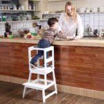 SDADI Kids Kitchen Step Stool with Safety Rail