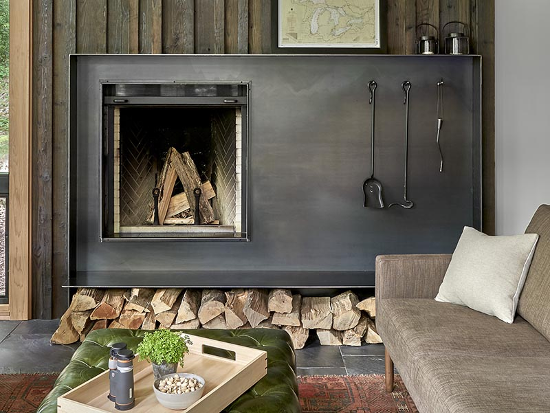 Steel Fireplace Surround Focal Points, Black Steel Fireplace Surround