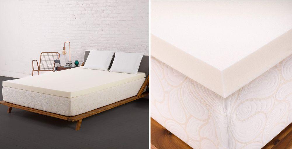 SleepJoy 2-inch ViscO2 Memory Foam Mattress Topper with Breathable Design