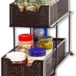 Sliding Cabinet Basket Organizer Drawer