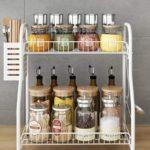 Spice Rack Organizer With Cutlery chopsticks storage shelf