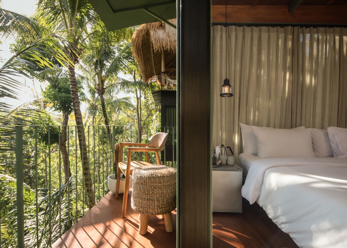 The individual suites have access to small balconies with wonderful views