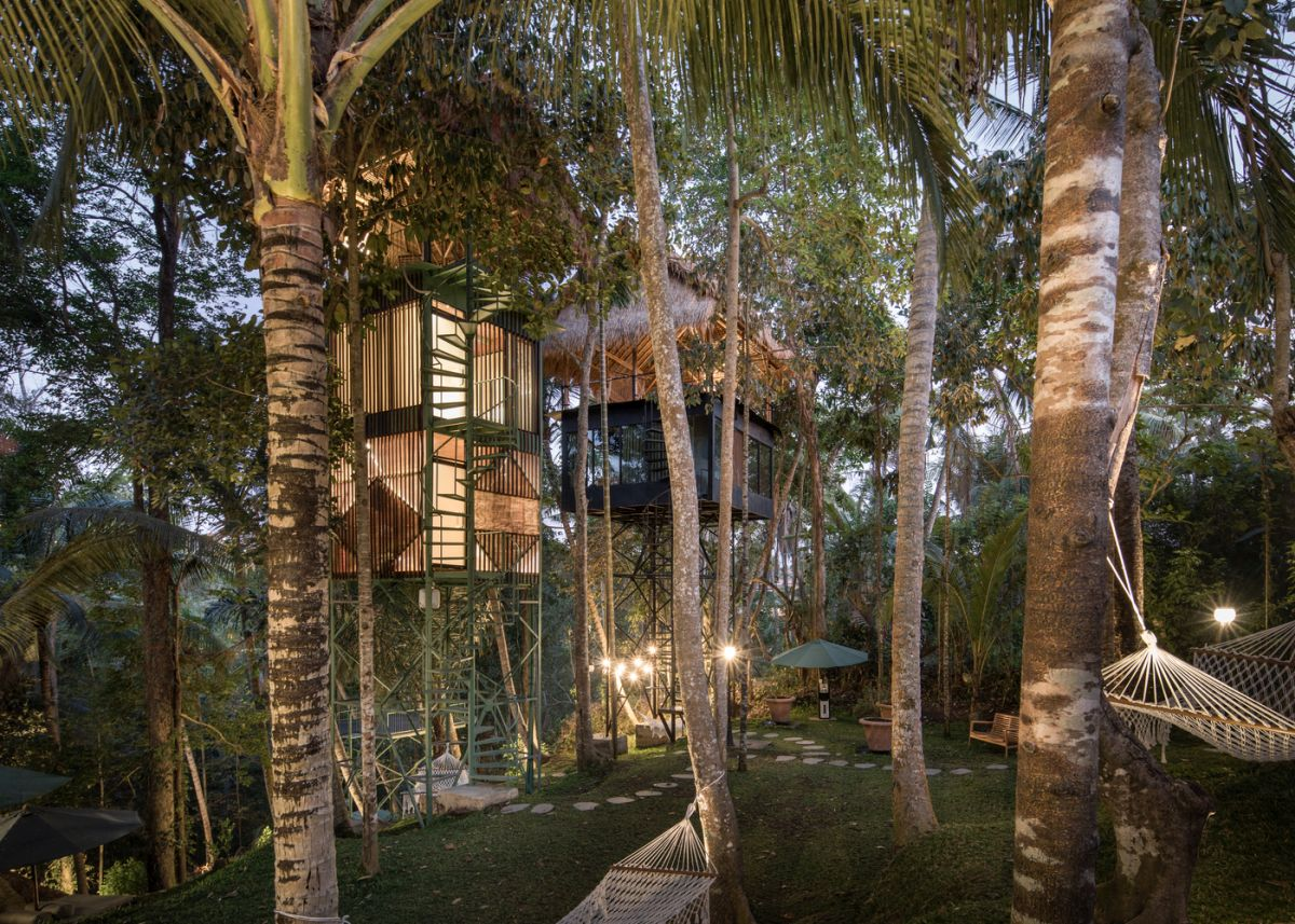 The treetop hotel offers a unique and memorable experience in more than one way