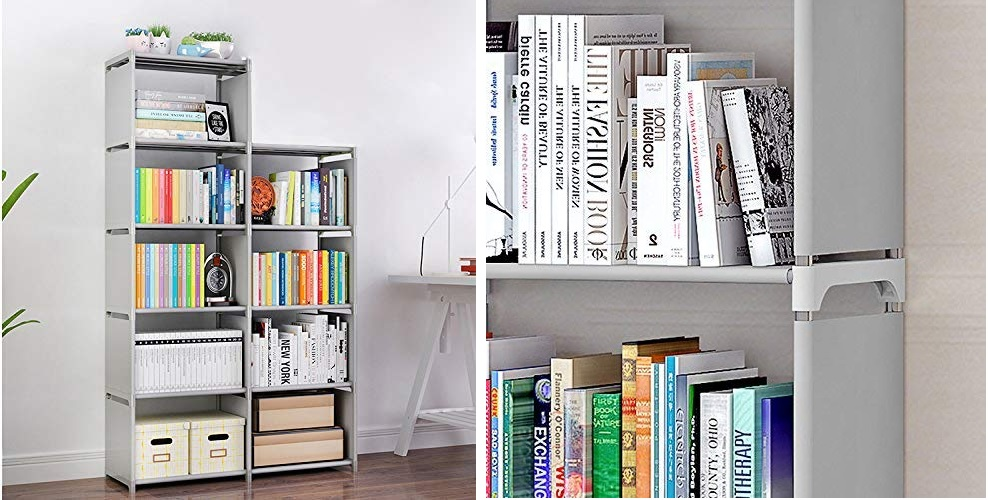 9 Storage Cubes, 4 Tire Shelving Bookcase Cabinet